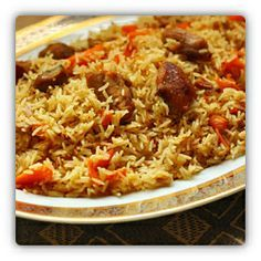 Pilaf (Palaw) is national food (dish) of Turkmenistan