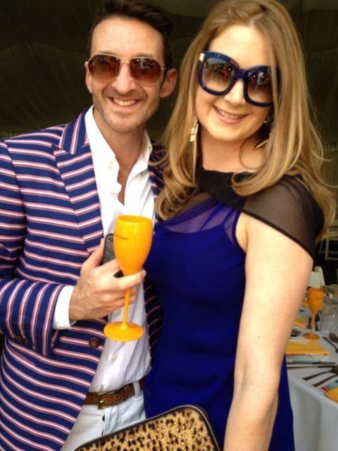 Paul Hunt and The Urban List's Editor, Susannah George killed it in blue