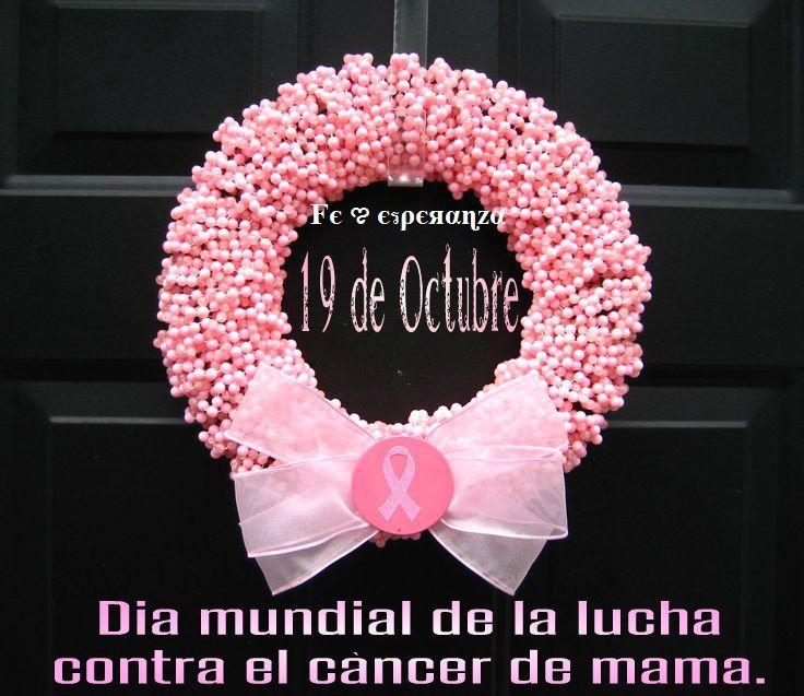 Hoy es el Dia mundial de la lucha contra el cancer de mama.