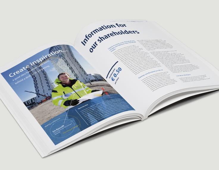 Binnenwerk jaarverslag, Grontmij / jaarverslagenontwerp / 2011 ontwerp Cascade visuele communicatie Amsterdam