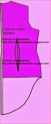 El Rincon De Celestecielo: Trazar cola de pato en espalda de blusa, falda o vestido Parte 2