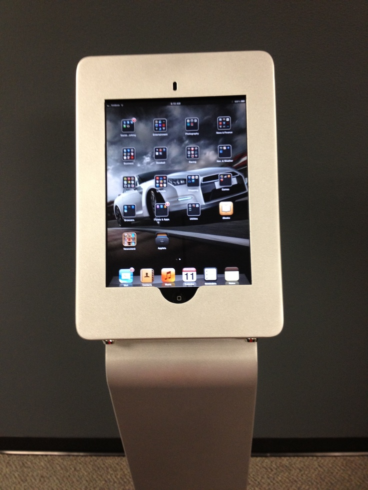 Modular iPad Kiosk in Black or Silver