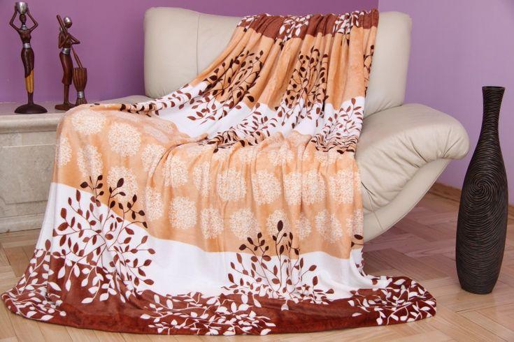 Teplá deka z mikrovlákna krémovo béžovej farby