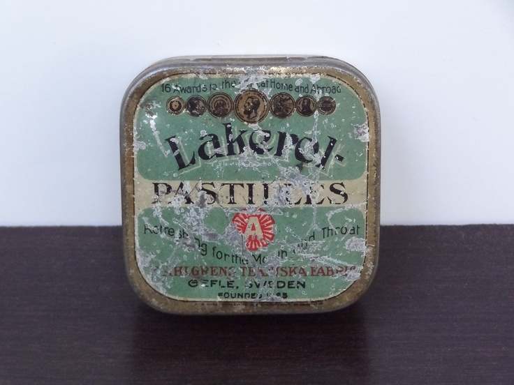 Vintage Swedish Lakerol Pastilles Tin ~ these will alway remind me of my Uncle Hoop
