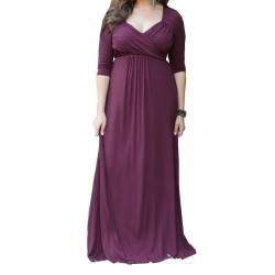 @Overstock - Romance defines this ultra-feminine Veronica maxi dress by Kiyonna. The maxi dress features flattering style elements like a wide V-neck, ruched surplice bodice, 3/4 sleeves, and an empire waist to complement full figures.http://www.overstock.com/Clothing-Shoes/Kiyonna-Womens-Veronica-Maxi-Dress/6478110/product.html?CID=214117 $80.95
