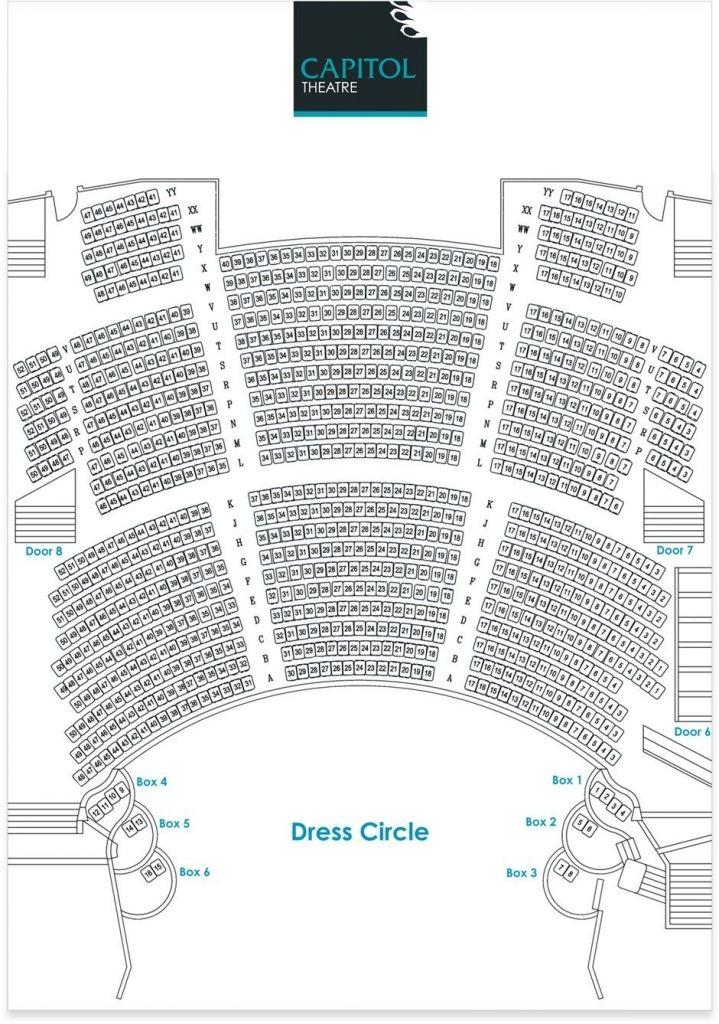 Capitol Theatre Seating Plan Di 2020