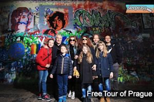 With our free tour you can see all the magic of Prague. Do you know the Lennon's wall ? #prague #johnlennon #lennon #tour #guide #hostelprague #travel