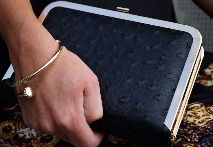 Bracelet £15, Clutch £35,