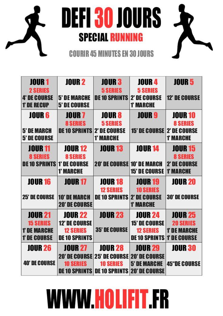 Ce défi de 30 jours vous propose une progression pour atteindre les 45 minutes de running consécutifs !
