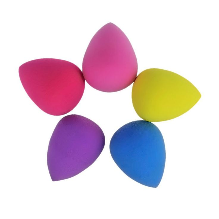 Hotrose® 5 pcs Foundation Makeup Sponge Blender Flawless Smooth Puff (Water Droplets Shape) ** Continue to the product at the image link.