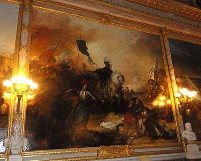 Galerie des Batailles.Tableau de la Bataille de Marignan remportée par François 1er le 14 Septembre 1515