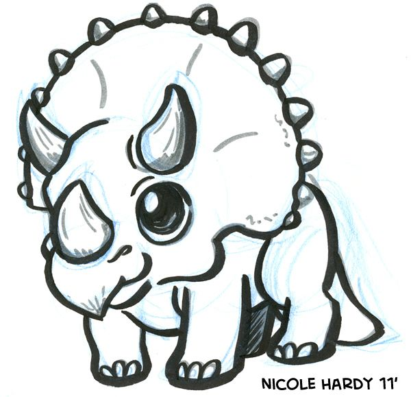 dinosaur doodles - Cute Baby Dinosaur Coloring Pages