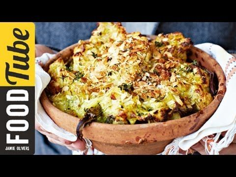 The Best Cauliflower Cheese -  Jamie champions frozen veg in this classic cauliflower cheese recipe; tender cauliflower florets in a broccoli and cheese sauce topped with crunchy breadcrumbs : Jamie Oliver