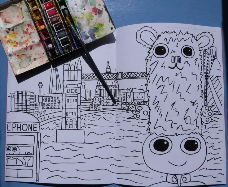 London Colouring in Book. Featuring the Dweeblings by Dweeblings on Etsy