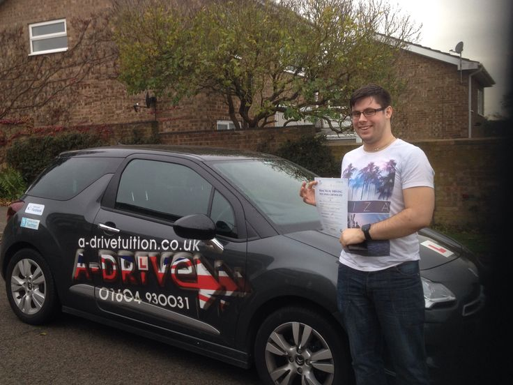 """MORE DRIVING TEST SUCCESS!!!!  Congratulations to Sam Kerslake of Market Force who passed his practical driving test 6/11/14 at Northampton Driving Test Centre with Andy McIntosh of www.adrivetuition.co.uk  #Driving #Adrive #DrivingTest #DrivingSchools #DrivingLessons #DrivingInstructors #Northampton #Daventry #Towcester #Wellingborough #Northants  Sam said """"Thanks so much for teaching me Andy. You were very patient and informative"""""""