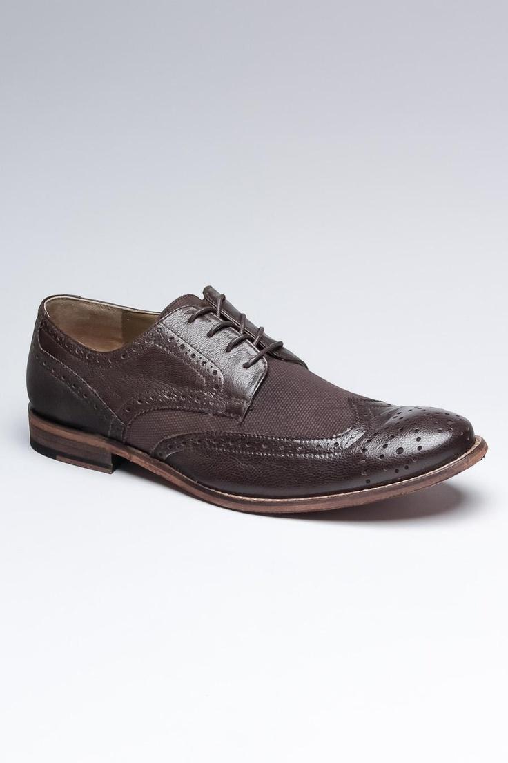 Dark brown smart causal shoes