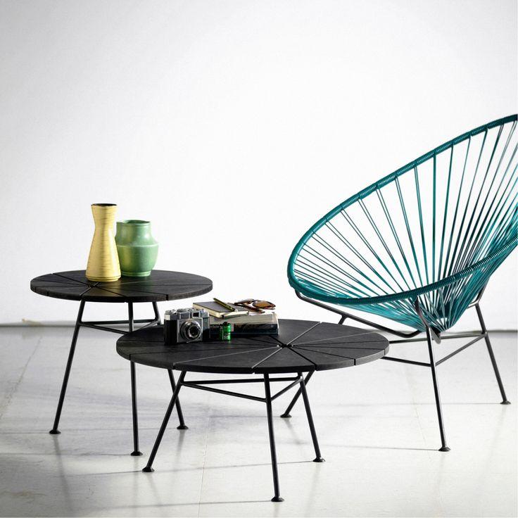 Bam Bam bordet fra OK Design er tiltænkt som suppliment til både Acapulco og Condesa stolen, hvilket også ses i designet, men kan sagtens anvendes i andre indretninger.