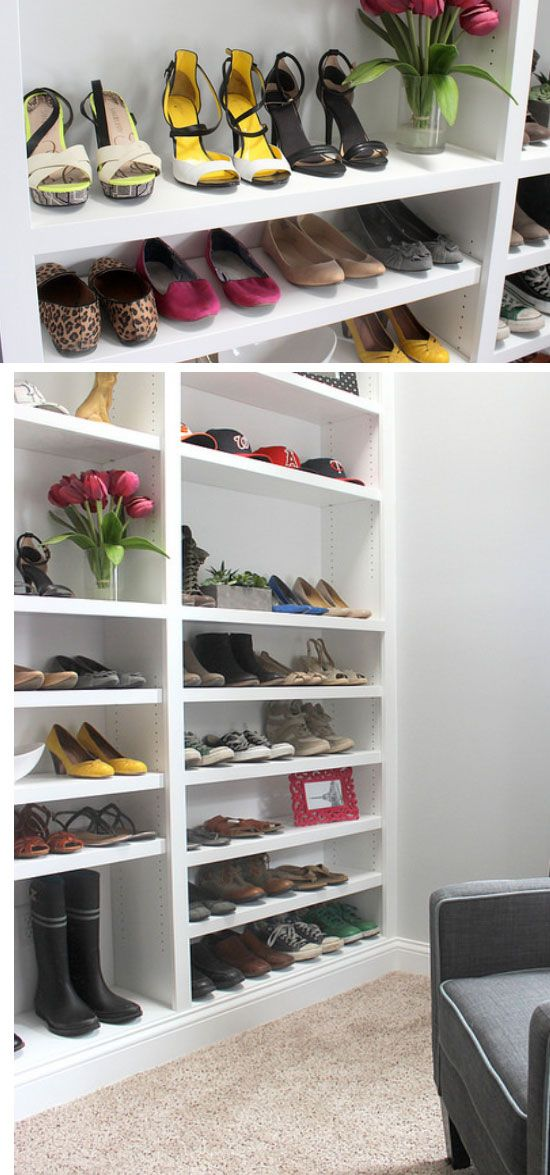 37 best images about small space decoration on pinterest cozy apartment home tips and renting - Shoe storage small space pict ...
