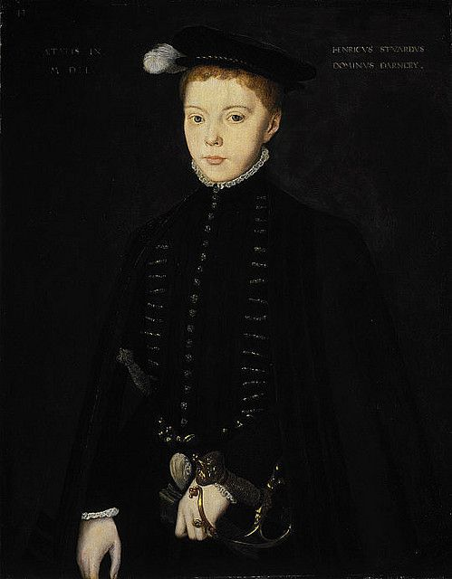 A portrait of the young Henry Stewart, Lord Darnley, who became the 2nd husband of Mary, Queen of scots. Darnley was the father of James I of England, and the grandson of Margaret Tudor.