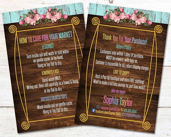 Wood Thank You Care Cards Instructions Post Card  4 x 6 JPEG