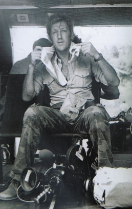 """""""Unusual among foreign correspondents, Davis chose to film the war from the South Vietnamese perspective, shooting acclaimed combat footage on many occasions and acquiring a reputation for skill and luck. He was driven by the desire to obtain the best film he could and was well-known for his neutrality, crossing, on one occasion, to film from the Viet Cong side."""""""