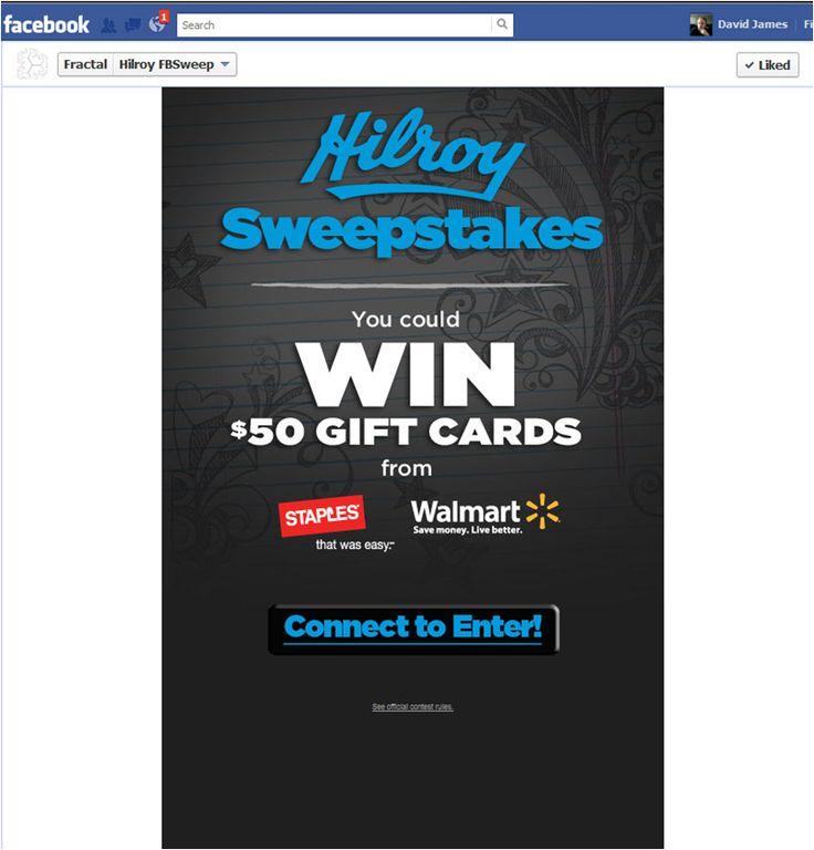 Acco Brands Hilroy Facebook Contest Page