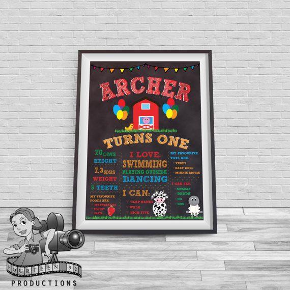 Farm Chalkboard Milestone Poster by fourteen92prod on Etsy