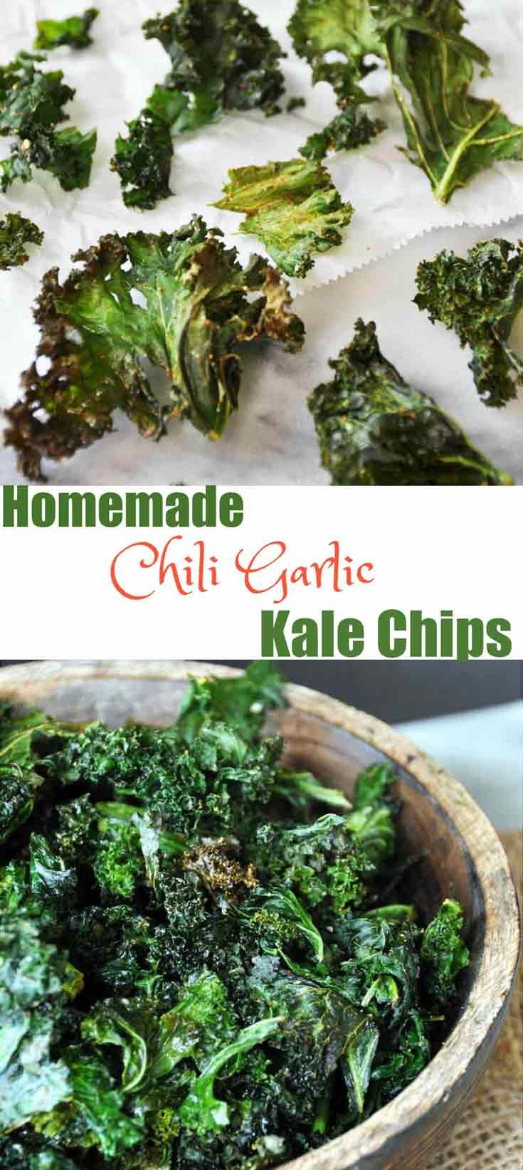 Make your own spicy kale chips at home. Find out how at www.veganosity.com