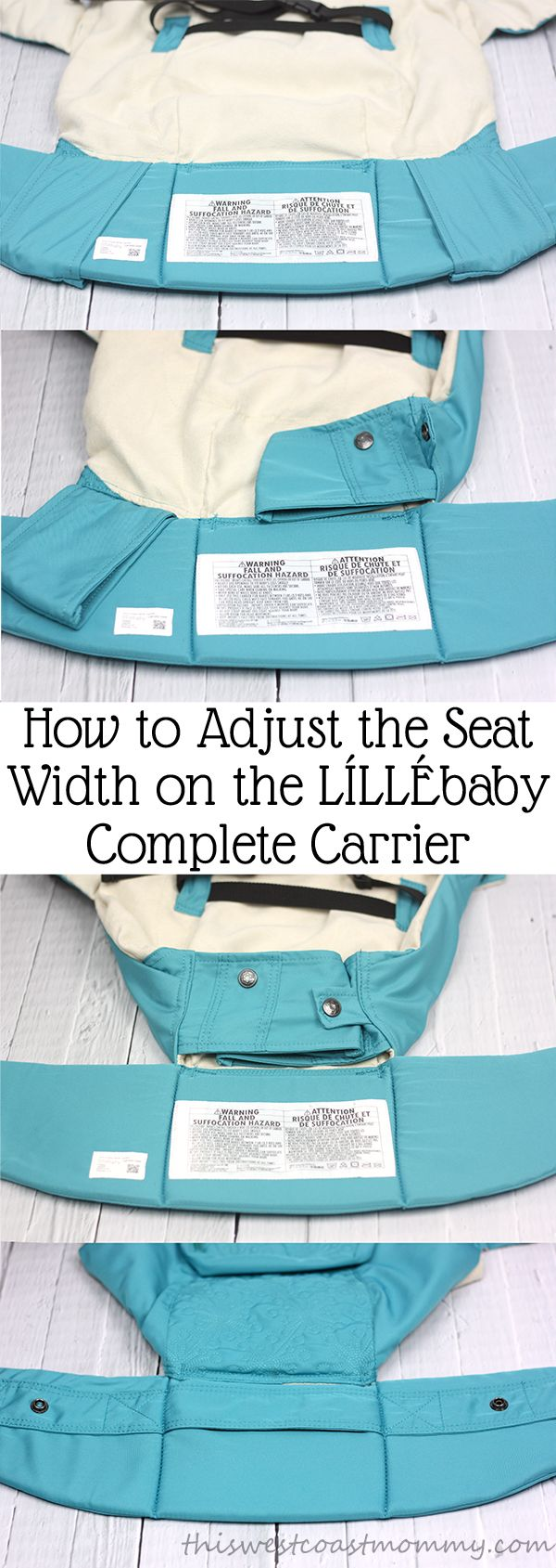 How to adjust the seat width on the LILLEbaby Complete Carrier