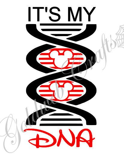 It's My DNA Mickey Mouse Disney Addict Car Decal by GoldWebDesign