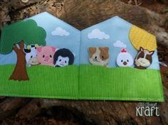Libro tranquila granero títeres de animales de granja libro