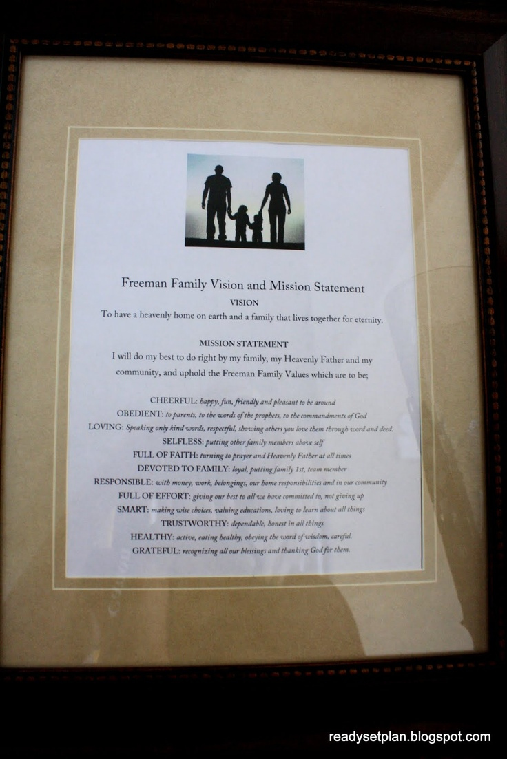 best ideas about family mission statements family mission statement idea