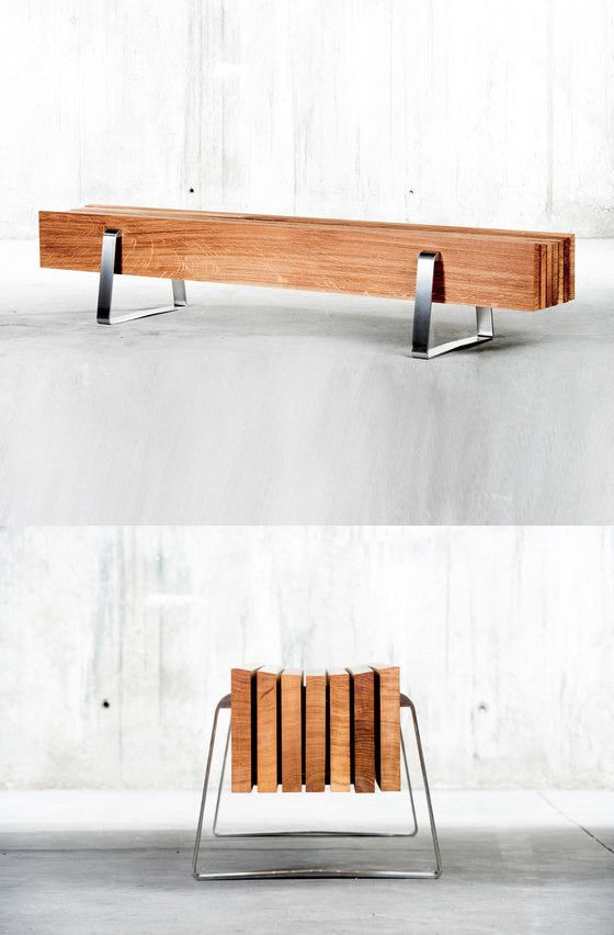 QoWood Long Bench:--RICHARD: Who wouldn't like a bench that could just be sawn to length, hold a dozen people in one span!
