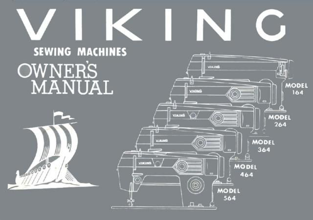 viking sewing machine instruction manual  models  164  264