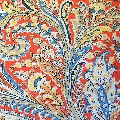 Ralph Lauren Bedding Paisley Full Queen Comforter Set Orange Blue Cotton New | What's it worth