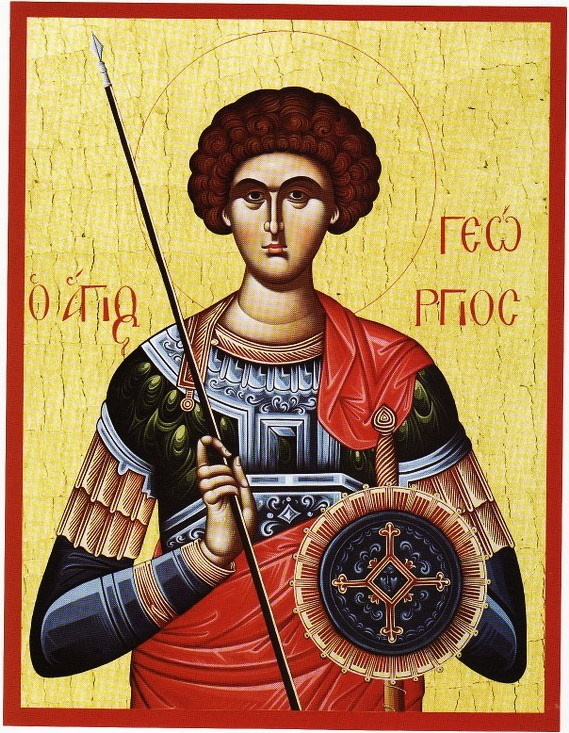 St. George Greek Orthodox Icon  Patron Saint of my son, father, father-in-law, nephew and oh so many more!!