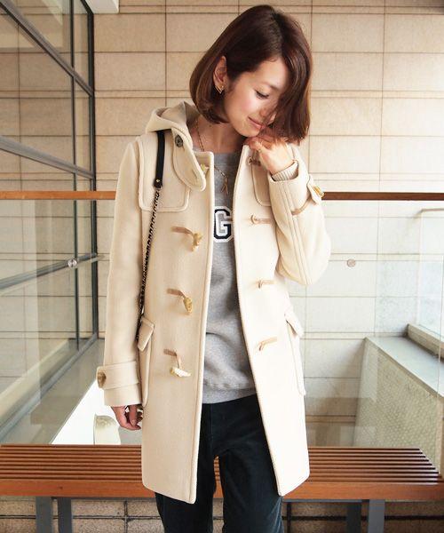 2013年アラサーの今年の白いダッフルコート☆男目線はずしません!モテ系: ショップチャンネル通販主婦の買い物日記★
