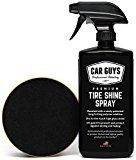 #6: Tire Shine Spray  Best Tire Dressing Car Care Kit for Car Tires after a Car Wash  Car Detailing Kit for Wheels and Tires with included Tire Shine Applicator  by Car Guys Auto Detailing Supplies