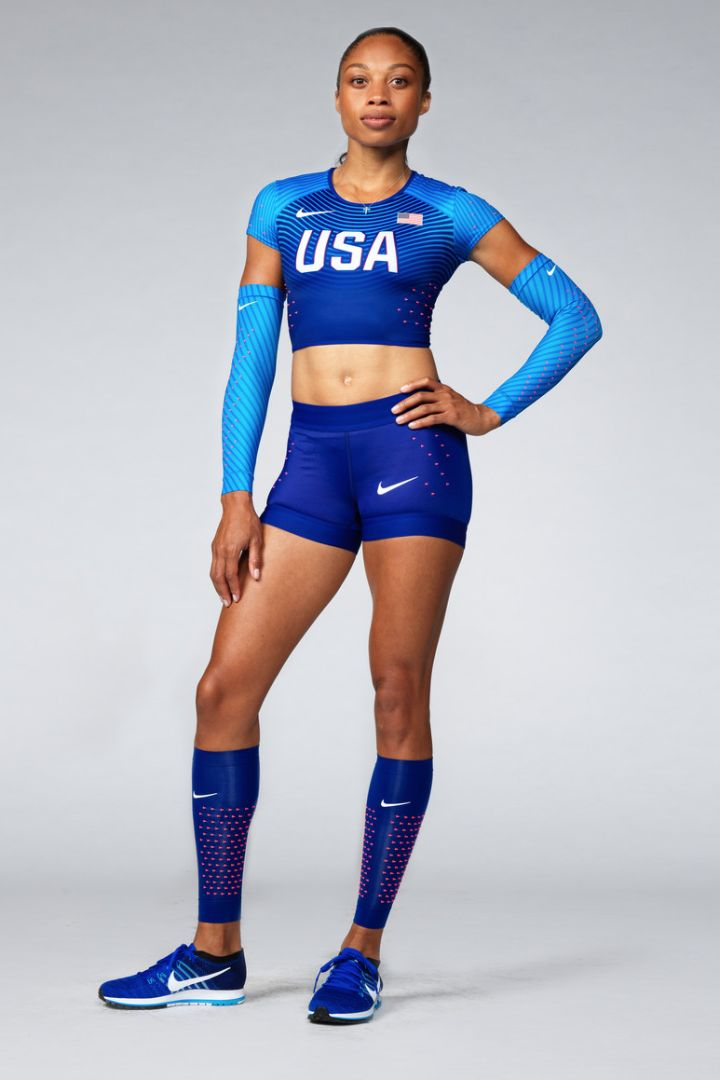 Allyson Felix is a force on the running track, has four Olympic golds, and has run 200 meters in 21 seconds. She also has a shoe collection that makes her a bonafide sneakerhead. In short, Allyson is astounding.