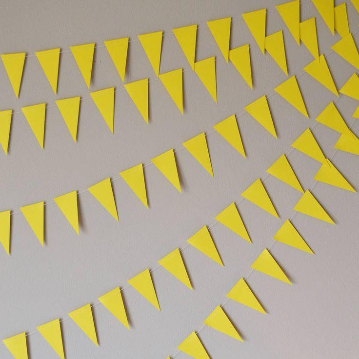 Pastel Yellow Mini Paper Bunting