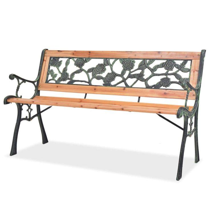 Gartenbank Xl Mit Ruckenteil Mit Rose Bank Aussen Gartenbank Wooden Garden Benches Garden Bench Wood Patio Furniture