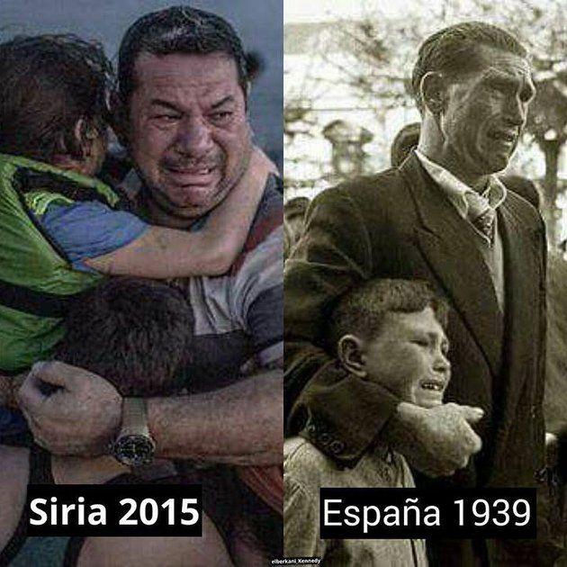 Comparación entre Siria hoy y España en 1939 (Facebook)