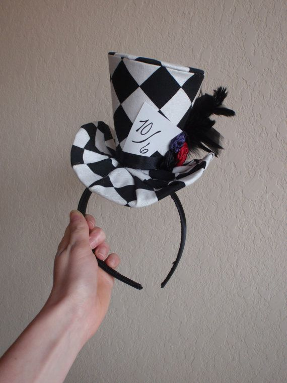 Mad Hatter Hat, Halloween Costume, Photo Prop, Alice and Wonderland Birthday, One of a Kind, OOAK