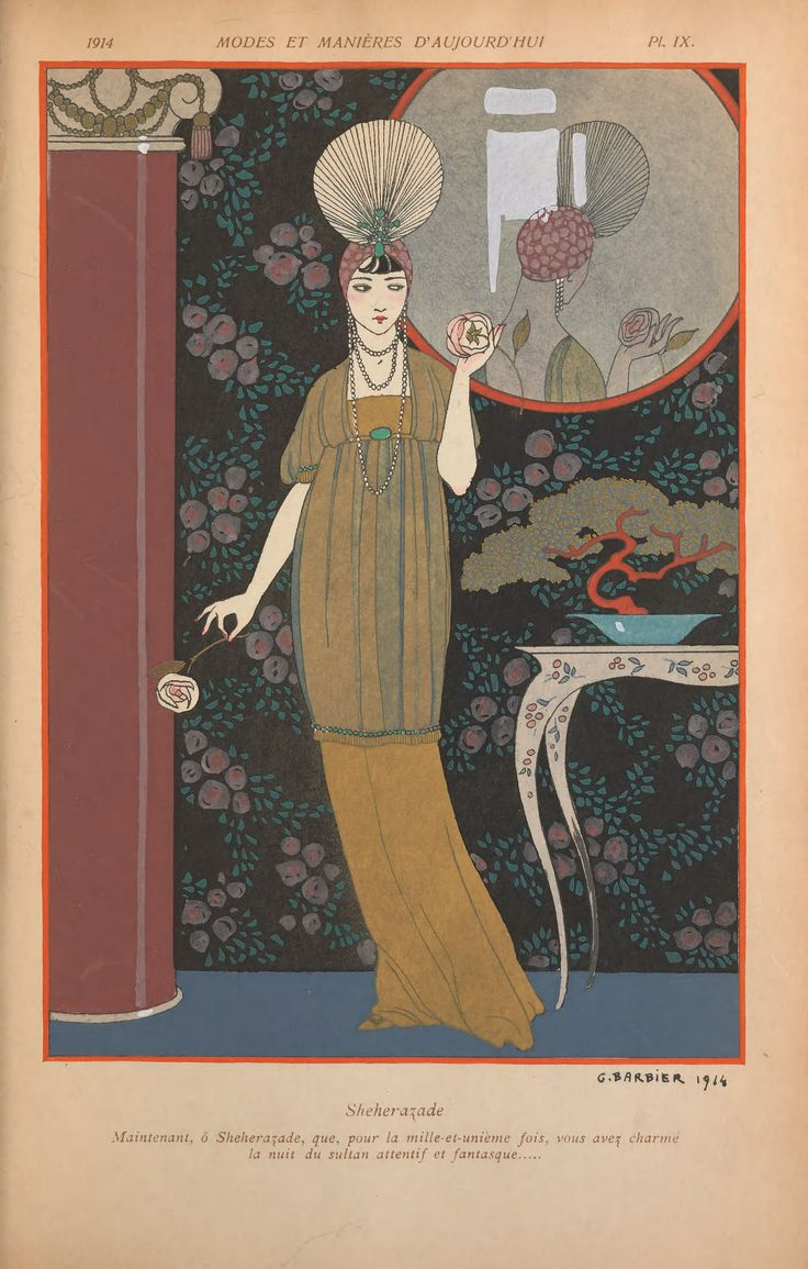 The amazingly talented Georges Barbier, fashion illustration from 1914.