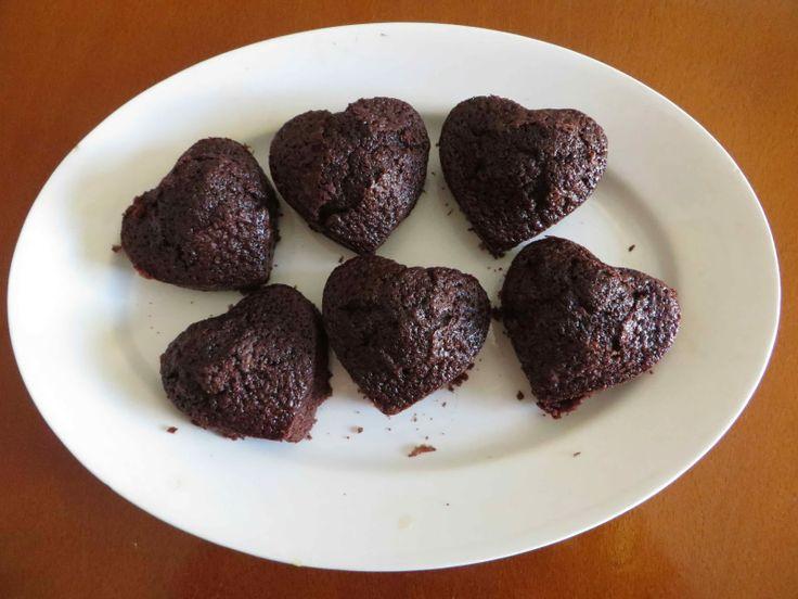 Magdalenas cremosas de chocolate
