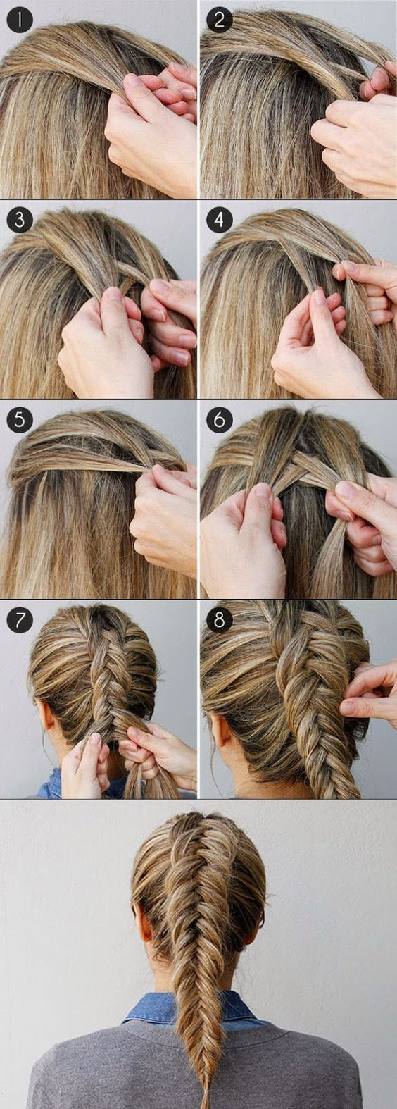 How to Fishtail Braid Your Own Hair? - Hairstyle Ideas ~ Calgary, Edmonton, Toronto, Red Deer, Lethbridge, Canada Directory #hairstyles #longhairtips: