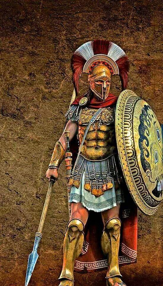 - Guerrero Lacedemoniota . Lacedemón ( Nombre correcto del estado espartano) Grecia . Siglo lV a.C./tcc/