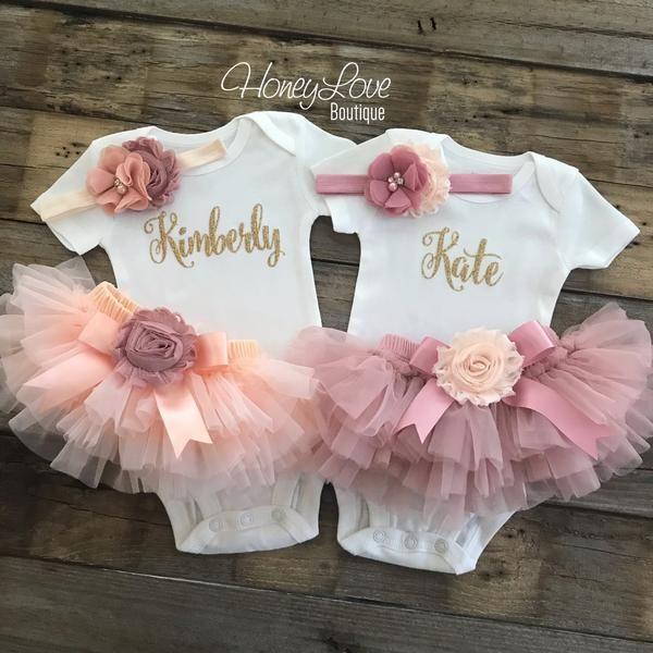 Newborn Photo Set Baby Girl Ruffle Bottom Tutu Bloomer Headband Set in Navy Blue /& White Flower Cake Smash Diaper Cover Baby Gift
