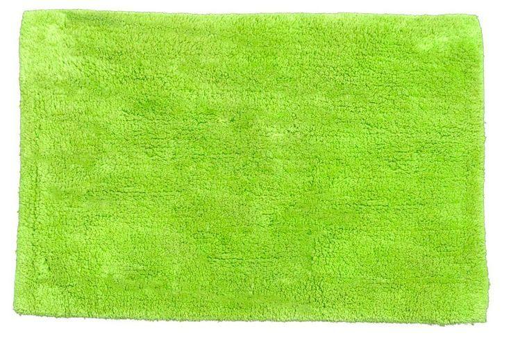 Lime green bath mats