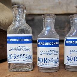 Vintage scrip bottles